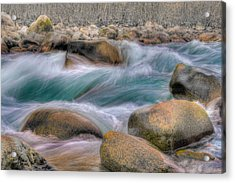 Raging Waters Acrylic Print by Naman Imagery