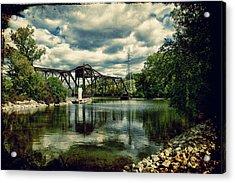Rail Swing Bridge Acrylic Print by Joel Witmeyer