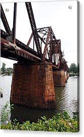 Acrylic Print featuring the photograph Railroad Bridge 1 by Kay Lovingood