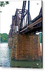 Acrylic Print featuring the photograph Railroad Bridge 2 by Kay Lovingood