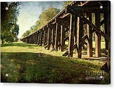 Railroad Bridge Acrylic Print by Tamyra Ayles