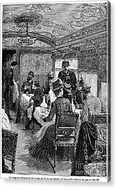 Railroad: Dining Car, 1880 Acrylic Print by Granger