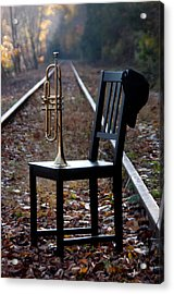 Railroad Acrylic Print by Ron Smith