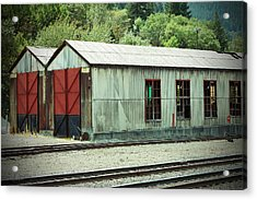 Railroad Woodshed 2 Acrylic Print by Holly Blunkall