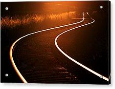Railroads Acrylic Print by Thomas Splietker