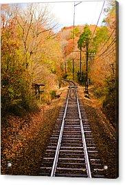 Railway Track Acrylic Print by (c) Eunkyung Katrien Park