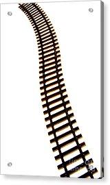 Railway Tracks Acrylic Print by Bernard Jaubert
