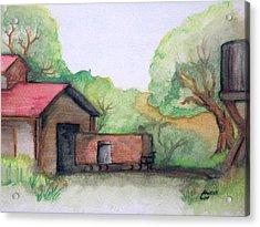 Railyard Acrylic Print by Timothy Hawkins