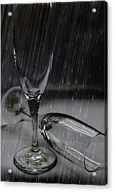 Rain Glasses Acrylic Print