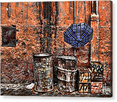 Rain In Marrakesh Acrylic Print by Chuck Kuhn