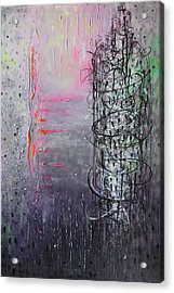Rain In The Bird Cage Acrylic Print by Lolita Bronzini