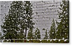 Rain On My Windowpane Acrylic Print by Kirsten Giving