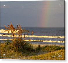 Rainbow - Saint Augustine Beach Acrylic Print by Jon Hartman