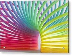 Rainbow 5 Acrylic Print by Steve Purnell