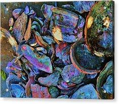 Rainbow Beach Acrylic Print by Helen Carson