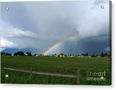Acrylic Print featuring the photograph Rainbow Before The Storm by Nina Prommer