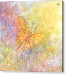Acrylic Print featuring the painting Rainbow Butterfly 3 by Kathleen Pio