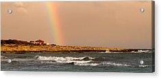 Rainbow By The Sea Acrylic Print by Stelios Kleanthous