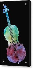 Rainbow Cello Acrylic Print by Jenny Armitage