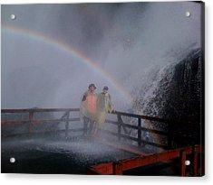 Rainbow Crazy Acrylic Print by Matthew Slowik