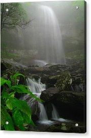 Rainbow Falls In Fog Acrylic Print