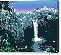 Rainbow Falls Acrylic Print by Karen Nicholson