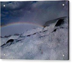 Rainbow Falls Acrylic Print by Matthew Slowik