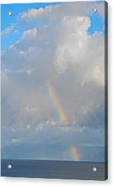 Acrylic Print featuring the photograph Rainbow From Molokai by Kirsten Giving