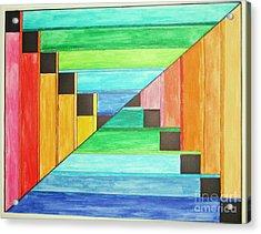Rainbow In Line Acrylic Print
