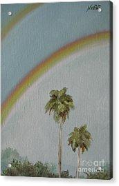 Rainbow Acrylic Print by Jindra Noewi