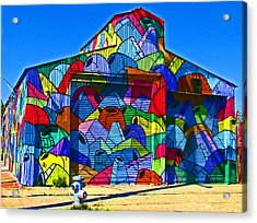 Rainbow Jug Building Acrylic Print by Samuel Sheats