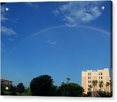 Acrylic Print featuring the photograph Rainbow Morning by Sheila Silverstein