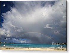 Rainbow Over Emerald Bay Acrylic Print by Dennis Hedberg
