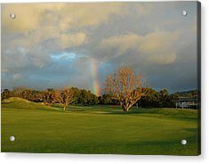 Acrylic Print featuring the photograph Rainbow Over Princeville by Lynn Bauer