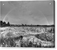 Acrylic Print featuring the photograph Rainbow Pit by John Burns