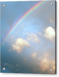 Rainbow Acrylic Print by Sally Stevens