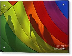 Rainbow Shadows Acrylic Print