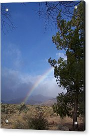 Acrylic Print featuring the photograph Rainbow Sky by Christine Drake