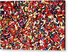 Rainbow Sprinkles Acrylic Print
