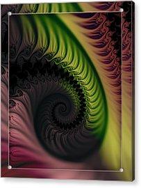 Rainbow Swirl Acrylic Print