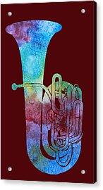 Rainbow Tuba Acrylic Print