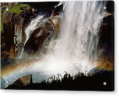 Rainbow Under Vernal Falls 2 Acrylic Print