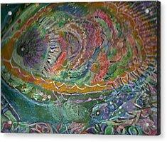 Rainbow Under Water Acrylic Print by Anne-Elizabeth Whiteway