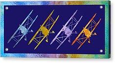 Rainbow Wing Acrylic Print by Jenny Armitage