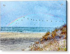 Rainbows And Wings II Acrylic Print by Dan Carmichael