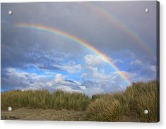 Acrylic Print featuring the photograph Rainbows Over The Sand by Tyra  OBryant