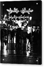 Raining In Dublin Acrylic Print by Patrick Horgan