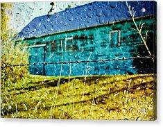 Rainy Barn Acrylic Print by Jill Hyland