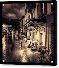 #rainy #cafe #classic #old #classy #ig Acrylic Print