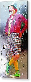 Rainy Day Clown 2 Acrylic Print by Steve Ohlsen